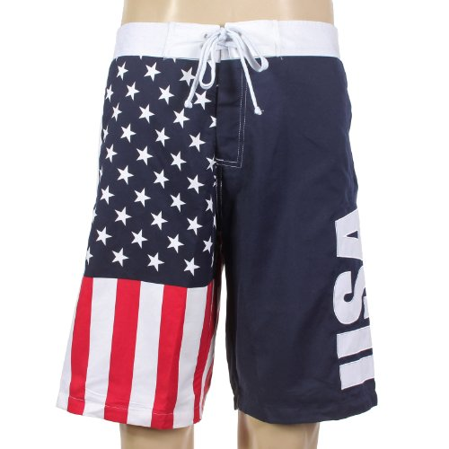 USA American Flag Mens Swim Boardshorts