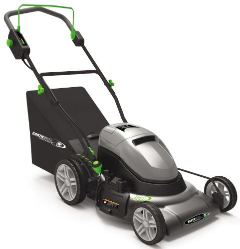 Earthwise 20-Inch 24-Volt Side Discharge/Mulching/Bagging Cordless Electric Lawn Mower, Model 60220