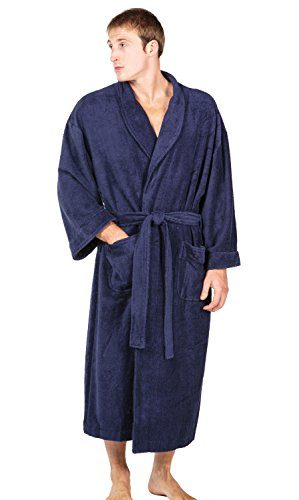 Men's Terry Cloth Bathrobe Robe (EcoComfort) Luxury Gifts for Him MB0101