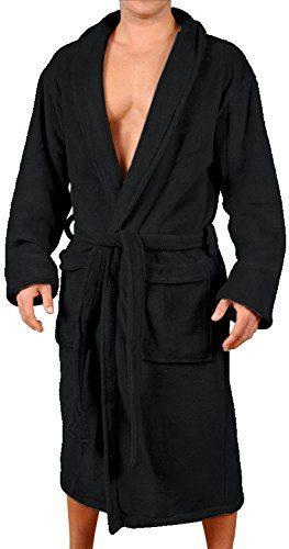Wanted Men's Micro Fleece Bathrobe