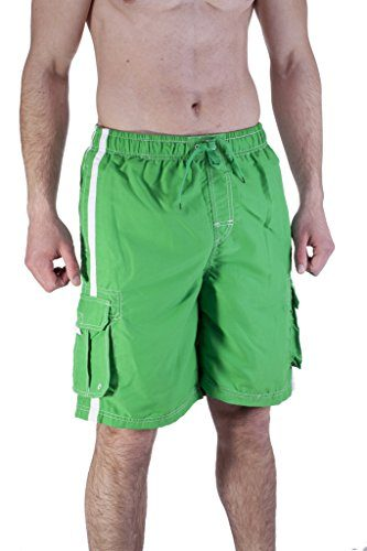 Mens Long Swim Trunk With Cargo Pockets
