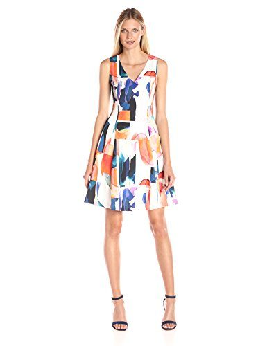 Ellen Tracy Women's Seamed Fit and Flare Dress