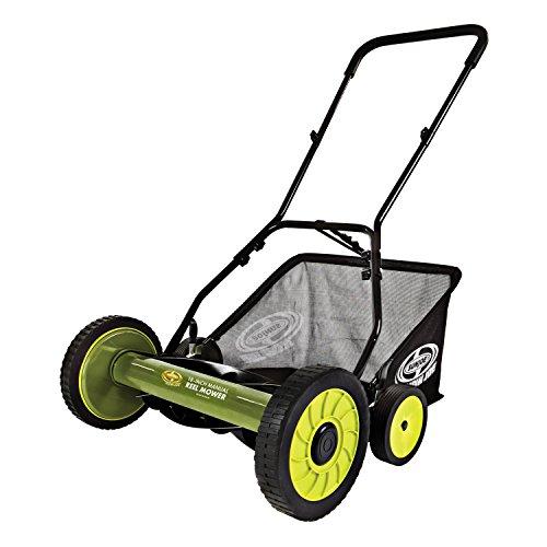 Sun Joe Mow Joe MJ501M 18-Inch Manual Reel Mower with Catcher
