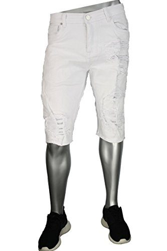 Jordan Craig Men's Denim Shorts WHITE J2100S (42)