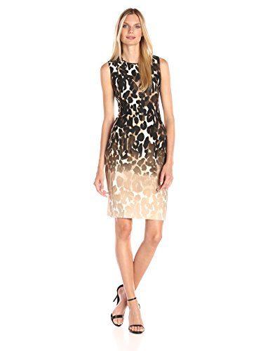 Calvin Klein Women's Sleeveless Printed Sheath Dress