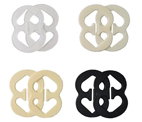 8 Pack Height Adjustable Bra Back Clips Conceals Bra Straps for All Bra Sizes