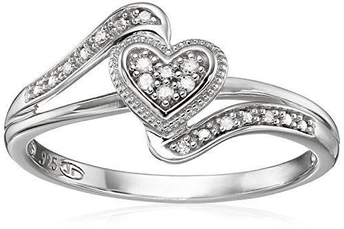Diamond Friendship Heart Promise Ring, Size 7