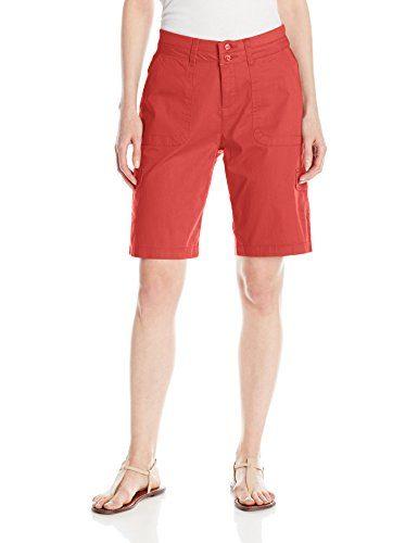 Lee Women's Relaxed Fit Avey Knit Waist Cargo Bermuda Short