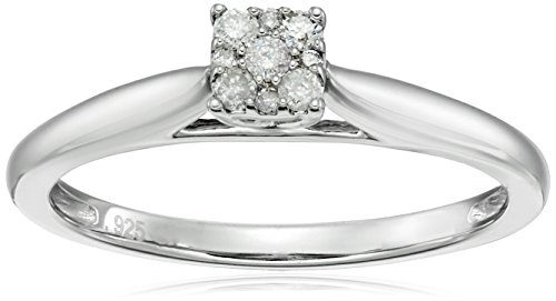 Diamond Friendship Solitaire Promise Ring, Size 7
